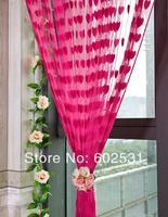 Free Shipping 3*3m Romantic Style Peach Heart Line Shade Curtain/Heart-shaped Curtain/Love Form Line Curtain