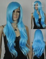 Wholesale - Long Blue Cosplay Costume Wig Anime Wigs 10pcs/lot mix order