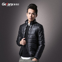 Thermal jacket men's clothing casual male slim thin wadded jacket cotton-padded jacket cotton-padded jacket thermal winter