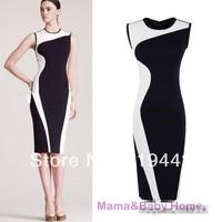 New 2014 Elegant vintage tank basic formal dress one-piece dress fashion slim women's patchwork skirt plus size
