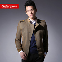 2014 spring casual jacket uniform men's clothing male stand collar thin outerwear slim jacket