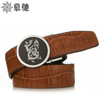 Buckle strap male genuine leather belt male smooth buckle genuine leather Men belt