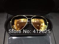 2014 VB new fashion pilot style Mirror lenses Polarized sunglasses man women Original mirror box promotion