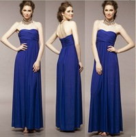 Fashion strapless tube top full dress sexy slim evening dress elegant ultra long paragraph one-piece dress