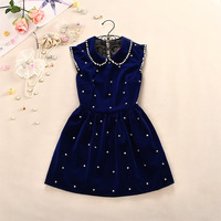 Preppy style peter pan collar thick woolen sleeveless tank dress sweet princess one-piece dress female