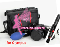 2ni1 Lens Cleaning Pen+camera case bag for Olympus EP1 EP2 E-P3 EPL1 EPL2 EPL3 E-PL5 E-PM2 EPM1 SP-820UZ 810UZ 720UZ 620UZ 610UZ
