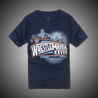 Hot!Passion!Super Star Wrestlemania&Navy Blue short sleeve T-shirt,Free shipping ePacket