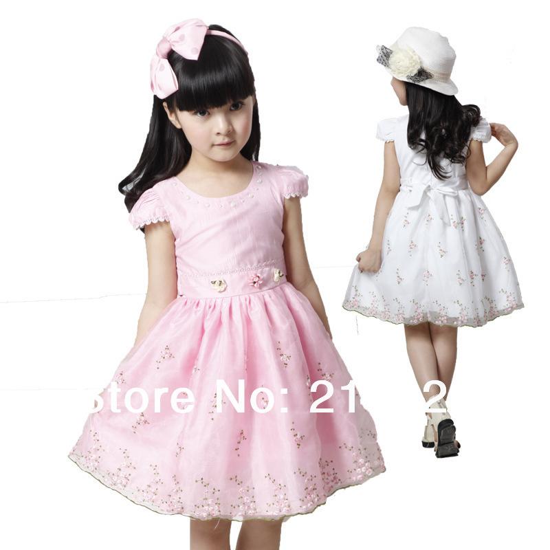 Summer-Wholesale-Korean-girls-dresses-embroidered-fashion-princess ...