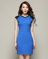 freeshipping New fashion - - 2014 slim ol tooling fashion women's one-piece dress kc362