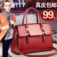 Genuine leather women's handbag women's bags 2014 cowhide quality portable one shoulder bag
