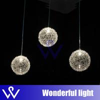 free shipping  modern brief aluminum wire ball pendant light restaurant lamp dining room lamp bar counter lighting