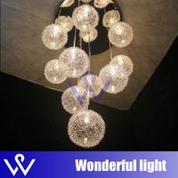 aluminum wire ball pendant light stair lamp Aluminum wire ball dining room pendant light hotel lamp living room pendant light