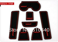 M6 Gate Slot Pad Rubber Car-Cup Mat Car Accessories For Mazda 6 2003 2004 2005 2006 2007 2008 High quality 7pcs/set   hh