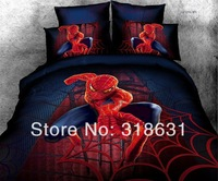 Hot the Amazing Spider-Man Bedding Set Duvet Cover Set Comforter Sets 100% Cotton for Kids or Adults 4 or 5pcs Full/Queen,Red