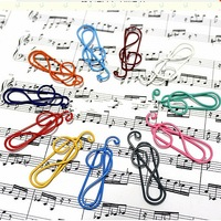 Free Shipping 36PCS/Lot Creative Music Note Paper Clips;Office Stationery;Student Clips;Office Clips