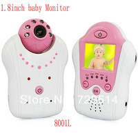 1.8 inch TFT color LCD Wireless digital baby Monitor 2.4 GHz video camera Night Vision Voice Control free shipping AV OUT 8001L
