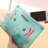 Novelty Mint Green Elephant 21*16cm A5 Zippers Document Bag File Folder Storage Bag Cosmetic Bag Retail