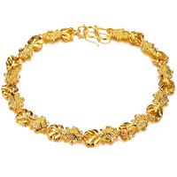 #BA101041 Brilliant and Elaborate bracelet with favorable price woman bracelets&bangles 18KGP Gold Plated Lady Vintage Bracelet