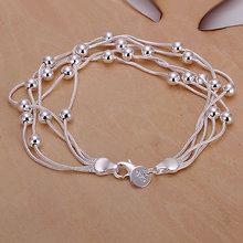 Bracelet  925 Silver Bracelet 925 Silver Fashion Jewelry Bracelet Five-line light bead bracelet H234(China (Mainland))