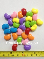 FREE SHIPPING  15*9 MM 100 PCS/LOT,JELLY BEAN BEADS MIXED COLOR!