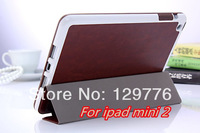 Magnetic Smart Cover Case PU Leather with Stand For Apple iPad Mini 2 Sleep and Wake up 7 colors Free Shipping