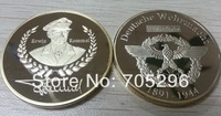 2014 Newest Coin Commemorate Coin Germany ERWIN ROMMEL WW2 COIN ,1 OZ GOLD PLATED