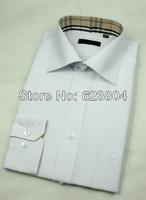 2014 new arrival brand cotton shirts plaid dress shirts men long sleeve shirts 7 colors