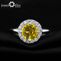 Fine Party Jewelry Natural Citrine Ring [JewelOra #RI101283]  925 Sterling Silver Rings For Women