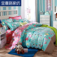 Textile 100% cotton four piece set 100% cotton bedding wedding bedding duvet cover bed sheets