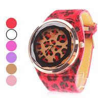 Women's Womage Watch Leopard six color Silicone Wristwatches Quartz Ladies dress analog watch dropship digital time Sport Watch