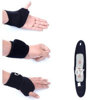 Free shipping 2pairs/Lot(4pcs)  Magnetic Therapy wrist  Protection Spontaneous Heating tourmaline wrist heating belt