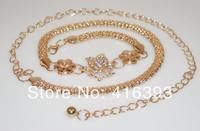 Free Shipping wholesale New Fashion Women's  waist chain corn rose color preserving waist waist chain chain -Q1272769874