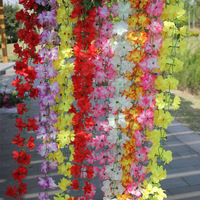 Artificial flower rattails wall pinkster flower qihii air conditioning duct decoration plastic silk flower vine rattails