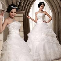 23refreshing bride wedding formal dress new arrival 2012 brief sweet princess wedding qi tube top d29