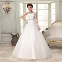 New arrival 2014 fish tail tube top wedding dress women's lace princess wedding dress h57