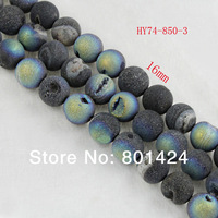 HOT 16mm Druzy Agate point crystal  Gem Round Loose Beads  wholesale Free Shipping 74-850-3