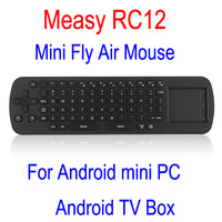 original Touchpad measy RC12 Russian wireless keyboard mouse fly mouse for windows android device mini pc, tv box , tv stick