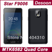 In Stock! F9006 mini MTK6582 Quad Core 1.3GHz Android 4.2 4.3 inch Touch Screen RAM 1GB ROM 4GB GPS Android phone/ Koccis
