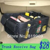 Free Shipping  Folding car trunk glove bag/ car storage bag/ tools grocery bags/ storage bag/ car accessories