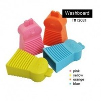 New 2014 Novelty Households Scrubboards Simple Washboard Silicone Handheld Candy Colors  Mini Rabbit Washboard 2Pcs/Lot