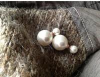 Titanium Steel wedding stud pearl earrings brand fashion jewelry 2013 for women -Free Shipping  E163