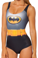 New  2014 Galaxy digital print beach one piece swimwear women Batman Cape Suit piece  swimsuit   free shipping