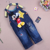 2014 baby denim overalls/bib pants/suspender trousers,loose casual,baby spring autumn pants 3pcs/lot free shipping