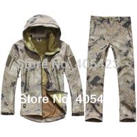 HOT TAD V 4.0 Men Outdoor Hunting Camping Waterproof Windproof Polyester Coats Jacket Hoody TAD softshell Jacket+pants