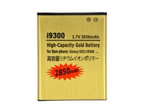 High Capacity Gold 3.8V 2850mAh Best Capacity Gold  Battery For Samsung Galaxy S3 SIII I9300 battery Free DHL
