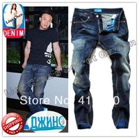 29-40#Blue#JYAD9137,New 2014 Italian Brand Men's Jeans,Original Fashion Warm Plus Size Straight Slim Whisker Perfume Jeans Men