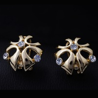 2014 Mixed Order free shipping Petals shape pop big earrings 18K gold-plated pierced earrings women fashion drop jewelry  GE0431