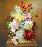 New arrival ribbon embroidery paintings 3d print three-dimensional cross-stitch new arrival