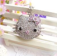 pen drive Diamond hello kitty 4gb 8gb 16gb 32gb Jewelry kitty cat usb flash drive flash memory stick pendrive gift free shipping