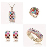 New 2014 hot selling 18K Gold Plated Austrian Crystal Jewelry Set